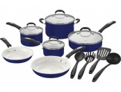 50% off Cuisinart 57-14CBL Classic 14-piece Cookware Set - Blue