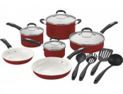 $90 off Cuisinart 57-14CR Classic 14-piece Cookware Set - Red