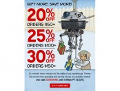 Save 20% off $50, 25% off $100 & 30% off $150 Orders at ThinkGeek