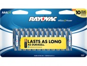 58% off Rayovac 824-24CF2 AAA Batteries (24-pack)