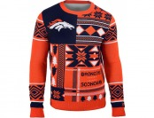43% off Klew Men's Denver Broncos Patches Ugly Sweater