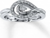60% off Diamond 1/6 cttw Round-cut Sterling Silver Ring