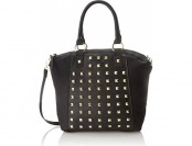 82% off T-Shirt & Jeans Studded Satchel Top Handle Bag