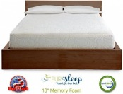 "79% off PuraSleep 10"" CoolFlow Memory Foam Mattress - Full"