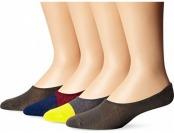 90% off K. Bell Socks Men's 4 Pack Tri Color Liner Socks