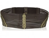95% off elise m. Women's Marrakesh Leather Cutout Belt w/ Gold Details
