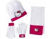 89% off Berkshire Girl's 3-Piece Hello Kitty Beanie Glove Scarf Set
