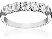 63% off 14k White Gold 5-Stone Diamond 1.00 cttw Ring