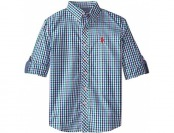 U.S. Polo Assn. Big Boys' Plaid Long Sleeve Sport Shirt
