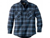 59% off Cabela's Roughneck Logger Flannel Shirt Regular - Blue Plaid