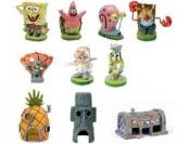 78% off Spongebob 10-Piece Aquarium Decorative Set