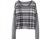 78% off Athleta Womens Serenity Stripe Top - Grey heather