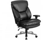 60% off HERCULES 400lb. Capacity Black Leather Executive Swivel Chair