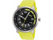 70% off Puma Men's Overdrive Neon Yellow Rubber Watch