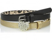 59% off Betsey Johnson Two For One Belt Set w/ Heart Stone Buckle