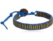 65% off M. Cohen Handmade Brass Thai Tube Beads on Leather Bracelet