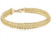 80% off 14k Yellow Gold Braided Rope Bracelet