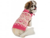 40% off Smoochie Pooch Heart Knit Dog Sweater, Medium