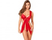 50% off Rene Rofe Women's Satin Bow Teddy, Red