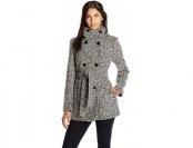 68% off Calvin Klein Women's Double Breasted Wool Coat w/ Belt