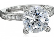 78% off Platinum Plated Sterling Silver Cubic Zirconia Ring