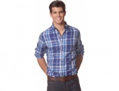 76% off Chaps Long Sleeve Plaid Shirt - Boston Royal