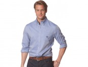 76% off Chaps Long Sleeve Herringbone Shirt - Sapphire Star