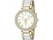 60% off U.S. Polo Assn. Women's Gold-Tone and White Bracelet Watch