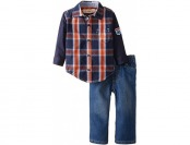 68% off Kids Headquarters Baby Boys' Plaid Shirt and Pants, Blue