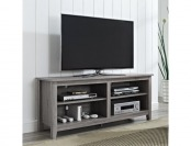 53% off WE Furniture Wood TV Stand, 58-Inch, Driftwood