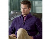 87% off Lambswool Half-Zip Cable Sweater