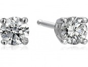 60% off 14k White Gold Lab-Grown Diamond Studs, 1/3 cttw