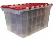 75% off Centrex Plastics 12-Gallon Tote with Hinged Lid 12GMHORSTR