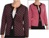65% off Belford Silk Dot Cardigan Jacket - Reversible