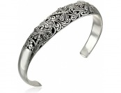 80% off Sterling Silver Dragonfly Filigree Cuff Bracelet