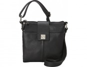 62% off Piazza Nola Crossbody Black Leather Handbags