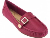 "54% off ""As Is"" Isaac Mizrahi Live! Pebble Leather Moccasins"