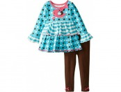 80% off Nannette Little Girls' 2Pc Pant Set with Emblem On Pullover