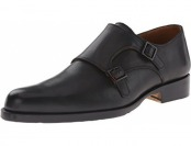 60% off John Fluevog Men's 205 Pine St Monk Strap Flat, Black Crust