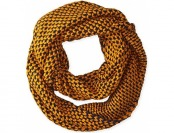 94% off La Fiorentina Popcorn Infinity Knit Scarf, Yellow/Blue
