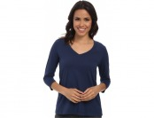 60% off Mod-o-doc 3/4 Sleeve V-Neck Women's T Shirt