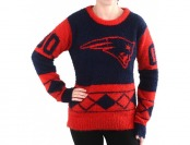 44% off Klew New England Patriots Eyelash Ugly Sweater