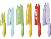 57% off Cuisinart 12-Piece Ceramic Coated Color Knife Set