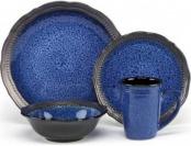 69% off Cuisinart Stoneware Jenna Blue 16-Piece Dinnerware Sets