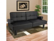 55% off Fold Down Futon Lounge Convertible Sofa Bed Couch
