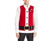 89% off The Ugly Christmas Sweater Kit Men's Santa Vest, Cayenne