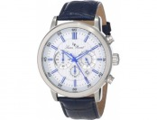 93% off Lucien Piccard Men's Monte Viso Chronograph Leather Watch
