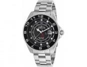 92% off Invicta Men's Pro Diver GMT Silver-Tone Steel Black Dial Watch