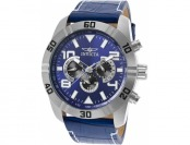 92% off Invicta Men's Pro Diver Multi-Function Blue Leather Watch