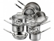 60% off 12-Piece T-fal E469SC Stainless Steel Cookware Set